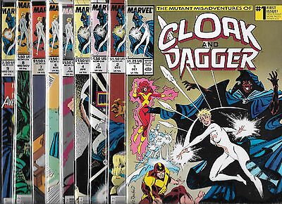 The Misadventures Of Cloak And Dagger Lot Of 9 #1 #2 #3 #4 #5 #6 #7 #8 #9 (Nm-)