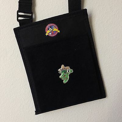Disney Parks Mickey Pin Trading Hip Lanyard Crossbody Bag Pouch Board Purse NEW