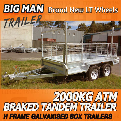 8x5 H-Frame Tandem Trailers Hot Dipped Galvanized Heavy Duty Box Trailer Welded