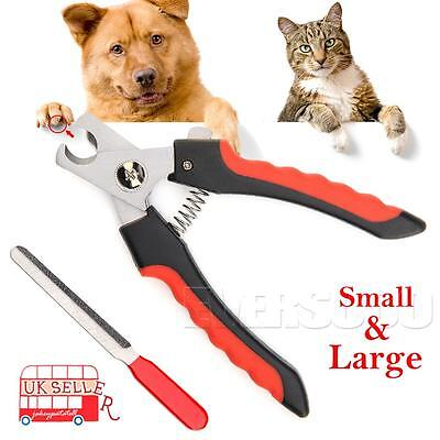 Stainless Steel Dog Cat Pet Nail Toe Claw Clippers Trimmers Scissors Cutter Tool