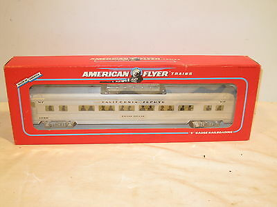 American Flyer S Gauge Western Pacific Silver Dollar Vista Dome 6-48930 Ob