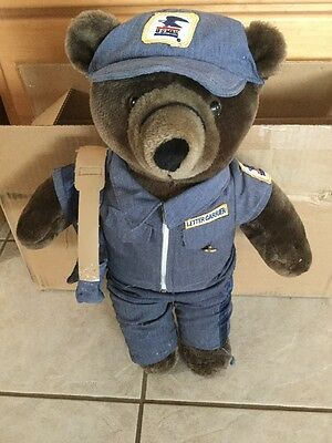 "Patriot Bear US Mail Postal Service Mailman 20"" Letter Carrier Doll"