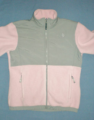 Girls The North Face Pink / Gray 2008 Denali Fleece Jacket  Large L  14 / 16