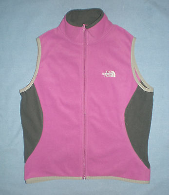 Womens North Face Snug Fit Stretch Athletic Fleece Vest Run Hike Small S  / Xs