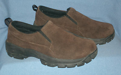 Womens / Girls Lands End Slip On All Conditions Brown Mocs Size 6