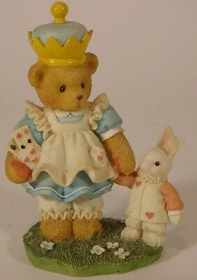 "Vintage Enesco Cherished Teddies Figurine ""Alecia - Through the Looking Glass"""