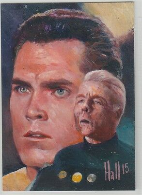 Star Trek TOS 50th Anniversary sketch Pike by Hall