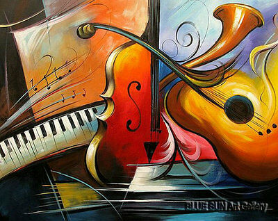 Modern oil painting on Canvas Wall Art room Music dance painting abstract ABD108