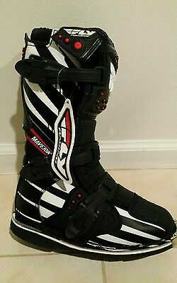 FLY MAVERIK F4 MX MOTOCROSS BOOTS Sz 4