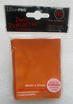 50 Ultra Pro Orange Deck Protector Standard Size Card Sleeves 1 Pack Game New