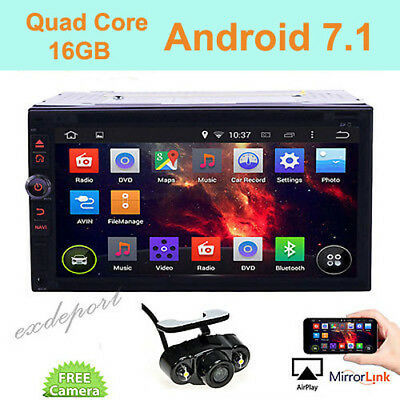 "Android 6.0 3G WIFI 7"" Double 2DIN Car Radio Stereo DVD Player GPS Nav Bluetooth"