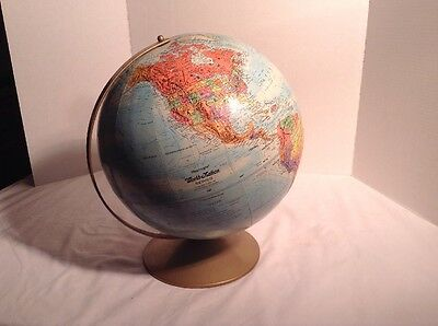 "Vintage Replogle World Nation Series Raised Relief 12"" Globe"