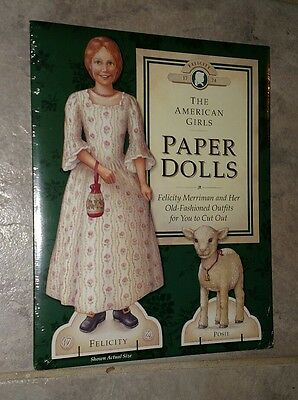 Vintage The American Girls Paper Dolls FELICITY MERRIMAN New & Uncut 1992