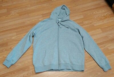 FILA Unisex Long Sleeve Hooded Zip Up Sweatshirt Gray HOODIE JACKET Sz 3XL XXXL