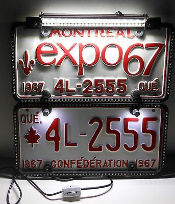 Canada 100 Years - Expo 1967 Montreal Quebec  Licence Plates  Man Cave Led Light
