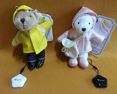 Teddy Bears 2 pcs for Bag & Phone Accessories with  Korea T Money Traffic Card