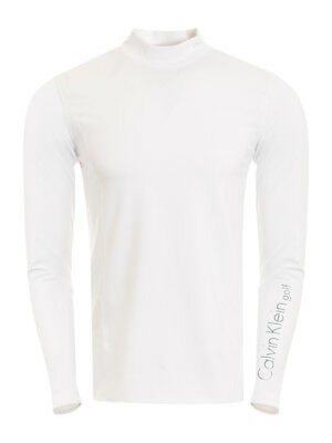 Calvin Klein Long Sleeve Neck Mock - White