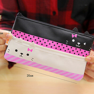 1 Creative Large Capacity Live Contracted Learning Cat Pencil Bag  For Boy Kid R