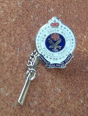 Obsolete Nsw  Police Force  Tie Pin Badge (Silver Tone)
