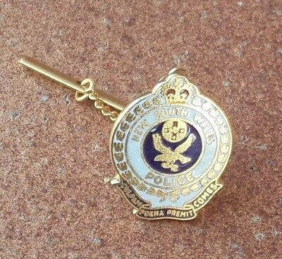 Obsolete Nsw  Police Commissioned Officers Tie Pin Badge (Gold Tone)