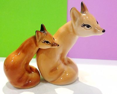 Foxes porcelain figurines Souvenirs from Russia handmade high quality