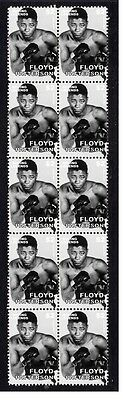 Floyd Patterson Boxing Legend Strip Of 10 Mint Stamps 1