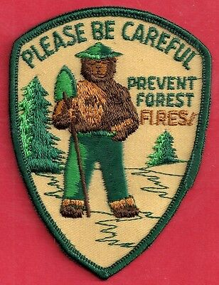 US USFS Forest Service NEW Collectible 1976 Please Be Careful Smokey Bear Patch
