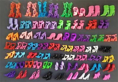 60Pairs/set Fashion Heels Sandals Doll Shoes For Barbie Dolls Outfit Dress Toy