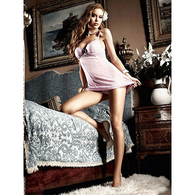 NEW BACI 3061 Microfiber Chemise with GString