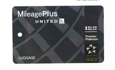UNITED AIRLINES Platinum baggage tag One World Luggage Priority FREE SHIPPING