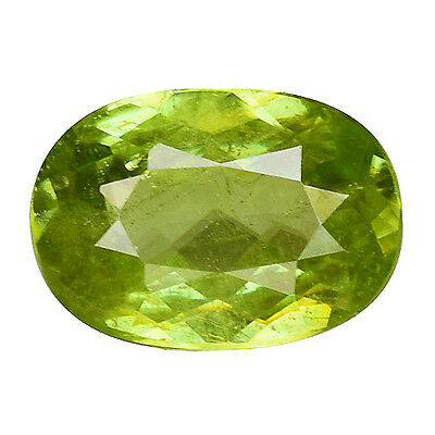 1.010 Cts Extremly Green Natural Sphene Oval Loose Gemstones