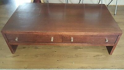 Large coffee table heavy solid great quality timber