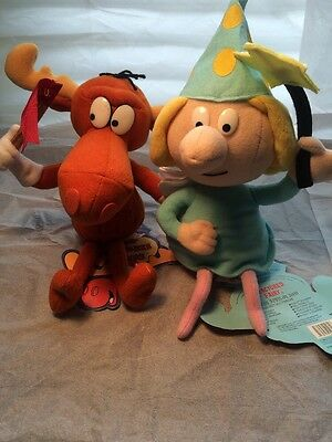Fractured Fairy Adventures Rocky Bullwinkle Friends Plush Stuffins Bean Bag NEW
