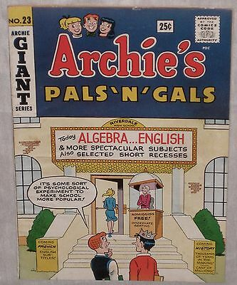 Silver Age ARCHIE'S PALS N' GALS #23  First Appearance JOSIE! Key Issue! FN+ 6.5