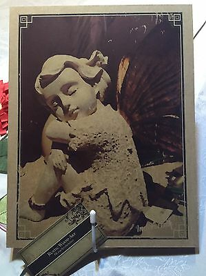GUARDIAN Angel CHARLY on Wood--Hand-crafted Vintage Rustic Angel Praying