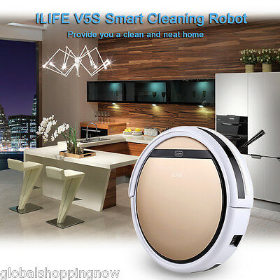 ILIFE V5S Vacuum Cleaning Auto con 0.3L tanque Suelo Floor Cleaner 130 min Oro