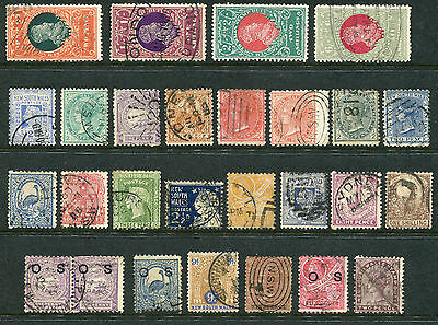 1850-1911 New South Wales.  Unchecked selection of 27 state stamps.