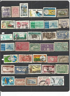 Brazil 36 Used Stamps.  See Scan