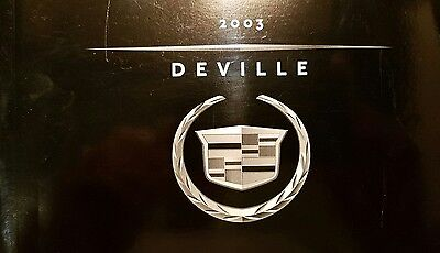 2003 Cadillac Deville Owner Manual /   Good Condition / Free Shipping