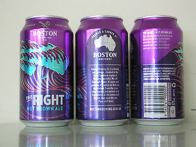 375Ml Boston Brewing The Right Nut Brown Ale Beer Can