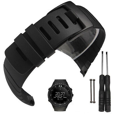 Silicone Rubber Replacement Watch Band Strap + Clasp Fastener For SUUNTO CORE