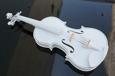 White High-end Handmade Beginners Preferred Work Musical Instrument Violin #