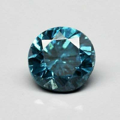 0.09ct 2.5mm Round Brilliant SI2 Natural Fancy Blue Diamond, Glowing Video #16