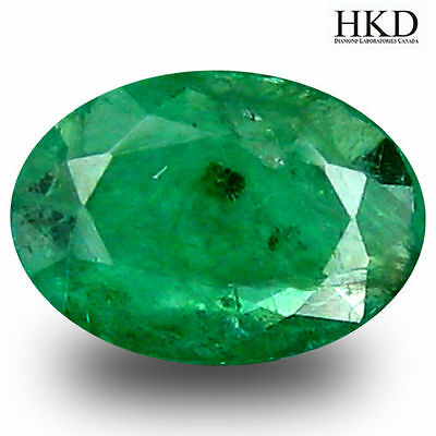 Colombia Emerald O.68 ct HKD Certified Incredible Oval Cut 7 x 5 mm Stone #7