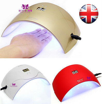 3 Styles SUN Q5S 24W UV Nail Dryer LED Gel Polish Curing Lamp Timer UK Shipping