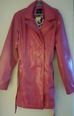 GapKids coat - 10 to 11 years - pink - long sleeve -patterned lining coat- girls