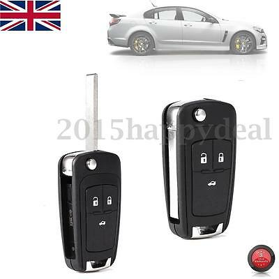 3 Button Remote Key Fob Case For Vauxhall Opel Zafira Astra Insignia Holden -Uk