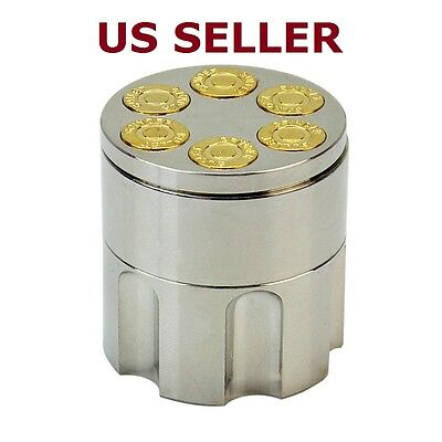 3 Layer Metal Tobacco Crusher Hand Muller Smoke Herbal Herb Grinder Bullet Shape