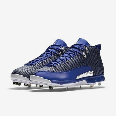 {854567-400} Men's Jordan 12 Retro Metal Baseball Cleat *NEW*