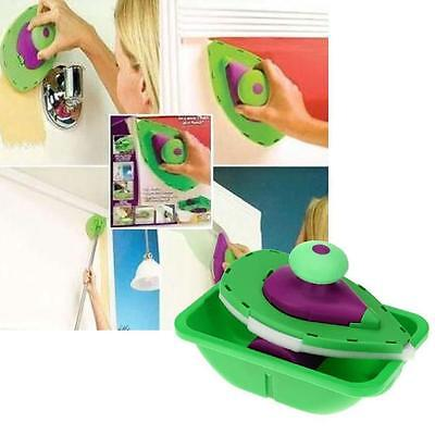 Point n Paint Paint Roller Tray With Brushes Kit DIY Painting Set Wall Corner